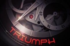 Triumph sul meccanismo automatico dell'orologio 3d Immagine Stock