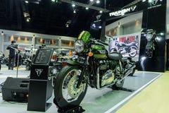 Triumph Thruxton on display at The 37th Bangkok International Motor Show Royalty Free Stock Photography