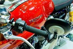 Triumph Thruxton R motorcycle Royalty Free Stock Photo