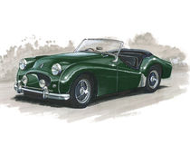 Triumph TR2 Obraz Royalty Free