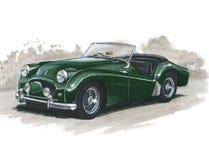Triumph TR2 illustration stock