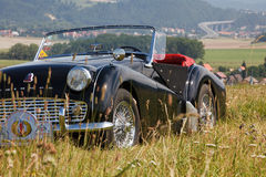 Triumph TR on the acre stock photography