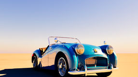 Triumph TR car stands on ground Royalty Free Stock Photos