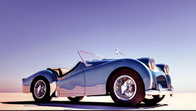 Triumph TR car stands on ground Royalty Free Stock Photo