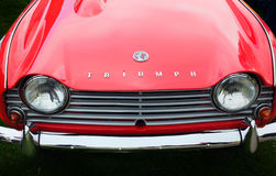 Triumph TR4 Front view Royalty Free Stock Images