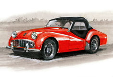 Triumph TR3A Royalty Free Stock Photos
