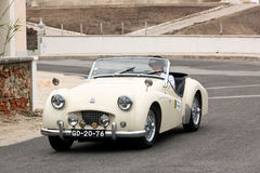 Triumph TR2 during Rally Sprint Royalty Free Stock Images