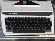 Triumph typewriter royalty free stock image