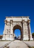 Triumphal arc Porte d Aix (circa 1839). Marseilles, France Stock Image