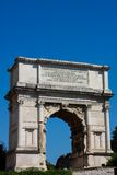 Triumphal arc at Roman Forum in Rome Royalty Free Stock Photography