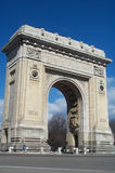 Triumphal Arch. In Bucharest, Romania royalty free stock image