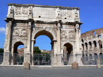 Triumphal arch. In rome. near to colosseo. without tourist Stock Images