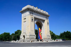 Triumphal Arch. In Bucharest, Romania Stock Photography
