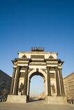 Triumphal Arch. In Moscow, Russia. At the top of monument Chariot of Glory Royalty Free Stock Images