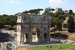 Triumphal Arch. Rome, Forum Romanum - Constanitine's Arch seen from Colosseum Royalty Free Stock Photos