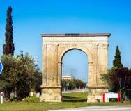 Triumphal arch The Arc de Bera. In Tarragona of Spain Stock Image