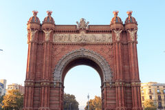 Triumphal arch Arc de Triomf in Barcelona Royalty Free Stock Images