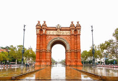 Triumphal Arch - Arc de Triomf, Barcelona, Spain.  Royalty Free Stock Photo
