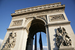 Triumphal arch (Arc de Triomphe) Royalty Free Stock Images