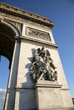 Triumphal arch (Arc de Triomphe) Royalty Free Stock Photos