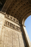 Triumphal arch (Arc de Triomphe) Royalty Free Stock Photography