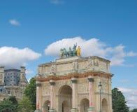 Triumphal Arch (Arc de Triomphe du Carrousel) at Tuileries. Paris, France Royalty Free Stock Photo