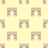 Triumphal arch architecture travel europe history old famous place seamless pattern france monument vector. Stock Image