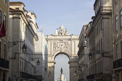 Triumphal Arch of Augusta Street, Lisbon. POrtugal Stock Image