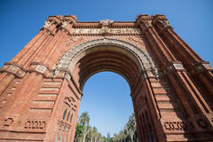 Triumphal Arch in Barcelona Stock Image