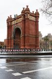 The Triumphal Arch in Barcelona. The Arc de Triomf in Barcelona, Spain Royalty Free Stock Image