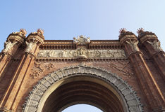 Triumphal arch in Barcelona Royalty Free Stock Photos