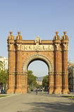 Triumphal arch of Barcelona, Catalonia, Spain. Triumphal arch, symbol of the city of Barcelona, Catalonia, Spain Stock Image