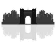 Triumphal arch in Barcelona illustrated. On a white background Stock Photo