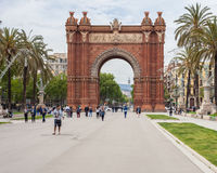 Triumphal arch in Barcelona Royalty Free Stock Photo