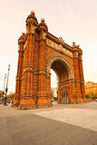 Triumphal Arch in Barcelona, Spain. Triumphal Arch at sunset in Barcelona, Spain Royalty Free Stock Photos