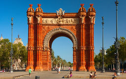 Triumphal arch in Barcelona, Spain Stock Photo