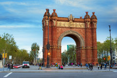 Triumphal arch in Barcelona Royalty Free Stock Images