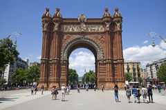 Triumphal Arch in Barcelona Stock Photography