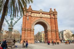 Triumphal Arch in Barcelona. Spain Stock Image