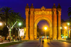 Triumphal arch in   Barcelona Stock Photos