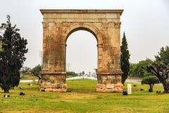 Triumphal arch of Bera in Tarragona, Spain. Triumphal arch of Bera in Tarragona, Catalonia, Spain Royalty Free Stock Photo