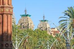 Triumphal arch Borne neighborhood Born quarter Barcelona Stock Images