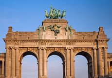 Triumphal arch in Brussels Stock Photos