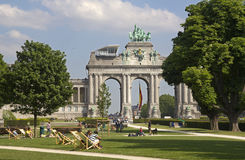 Triumphal Arch in Brussels Stock Photography
