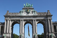 Triumphal arch in Brussels Royalty Free Stock Images