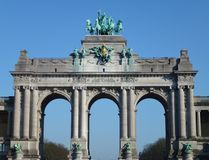 The triumphal arch in Brussels Stock Photos