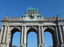The triumphal arch in Brussels Royalty Free Stock Photo