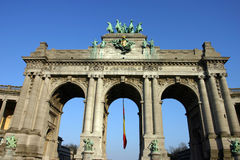 The Triumphal Arch in Brussels Royalty Free Stock Images