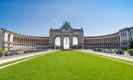 The Triumphal Arch in Brussels, Belgium. The Triumphal Arch or Arc de Triomphe in Brussels, Belgium Royalty Free Stock Image
