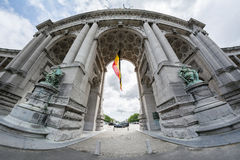 Triumphal Arch in Brussels Royalty Free Stock Photos